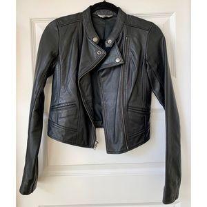 Rubbish Genuine Leather Jacket